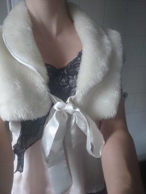 Bolero bianco sporco-crema