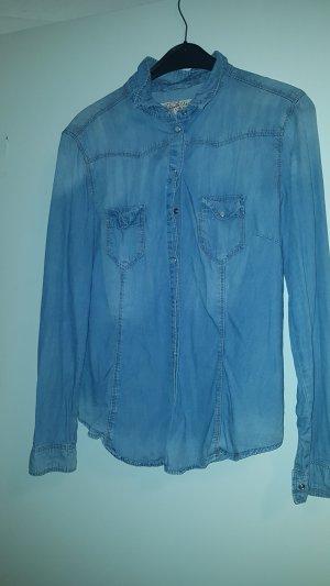 Denim Co. Denim Shirt pale blue-azure