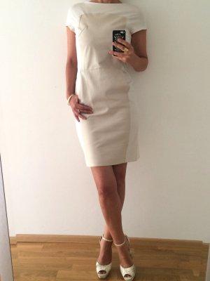 Drykorn Vestido de cuero blanco puro