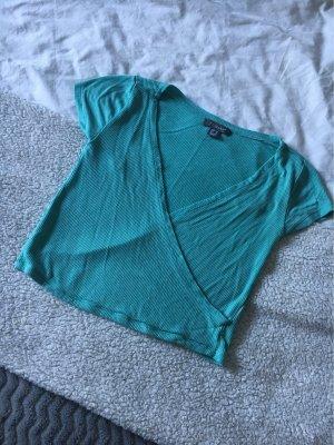 Primark Camisa recortada azul claro