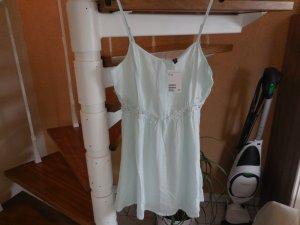 helles mintgrünes Trägerkleid mit Häkeleinsatz von H&M neu mit Etikett!