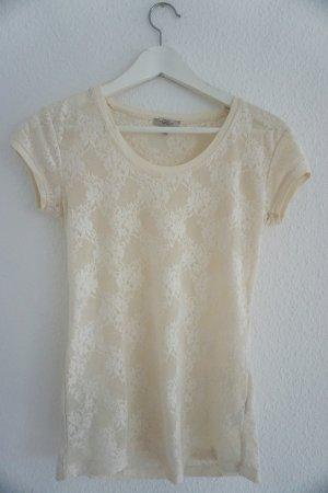 Helles Spitzen-T-Shirt
