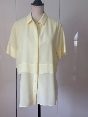 Alexander Wang Short Sleeve Shirt pale yellow-primrose silk