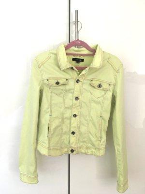 Comma Veste en jean jaune fluo coton
