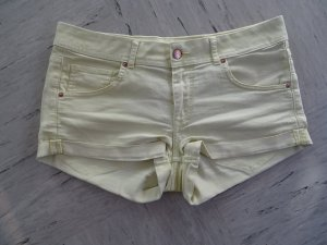 Hellgelbe Jeansshort