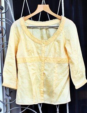 Blusa in lino giallo chiaro Lino