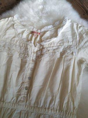 hellgelbe Spitzenbluse Bluse Hemd Oberteil von Review in der Gr. 36 s smal wie neu!