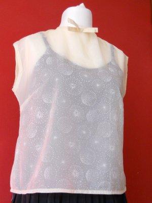 """Hellgelbe transparente Rockabilly Bluse """"Dandelion"""" Gr. 42"""