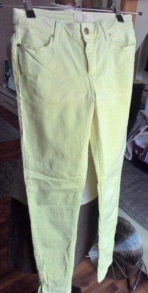 Hellgelbe Zara Basic Jeans, Gr. 36, wie neu