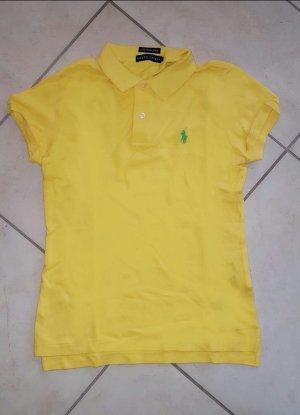 Hellgelbes neuwertiges Damen Polo-Shirt v. Ralph Lauren, Gr. S