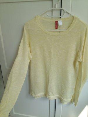 H&M Top básico amarillo claro
