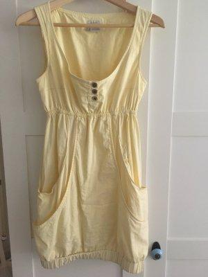 Castro vestido de globo amarillo claro Algodón