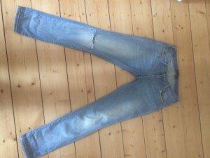Hellgewaschene Jeans