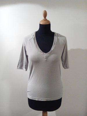hellgrau grau logo skull iro rückenprint weich fein Diesel Shirt top Jersey