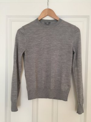 COS Crewneck Sweater silver-colored-light grey wool