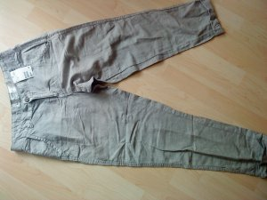 H&M Capris silver-colored linen