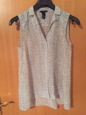 H&M Blusa sin mangas gris claro