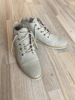 hellgraue Boots / Schuhe von Rieker