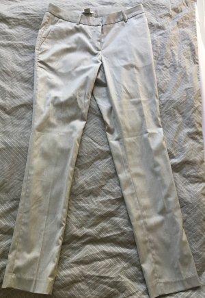 H&M Pantalon en jersey gris clair-blanc