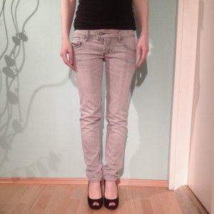 Diesel Skinny Jeans grey-silver-colored cotton