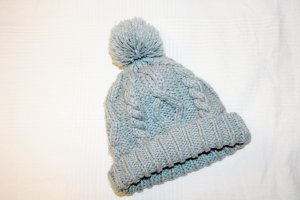 H&M Knitted Hat silver-colored-light grey