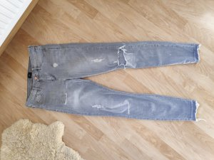 River Island Jeans taille haute gris clair