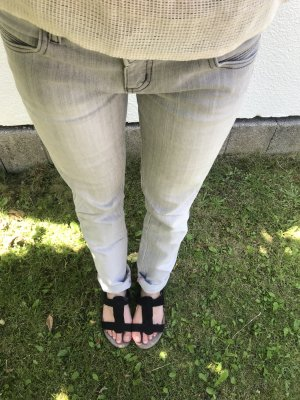 Tally Weijl Pantalon cigarette gris-gris clair
