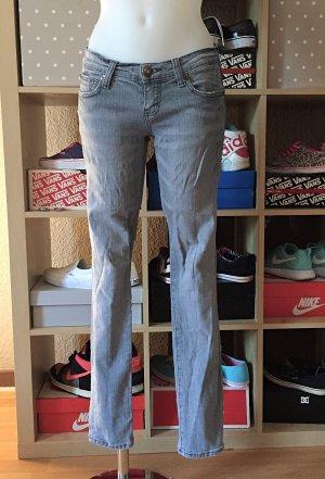 Hellgraue Jeans Skinny Röhre XS/S
