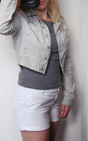 Hellgraue Kurzjacke im Jeanslook, Tally Weijl, Größe 38, guter Zustand