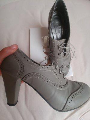 Bottines à lacets argenté-gris clair faux cuir