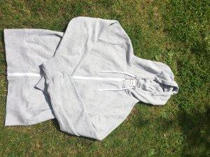 Hellgraue Sweatshirt Jacke