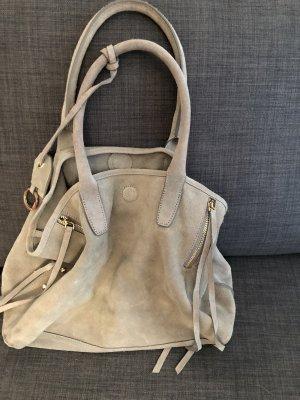 H&M Carry Bag light grey suede