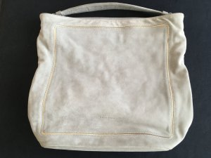 Coccinelle Handbag light grey-gold-colored suede