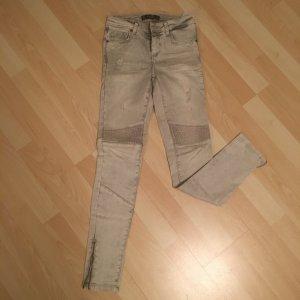 Zara Jeans da motociclista grigio chiaro