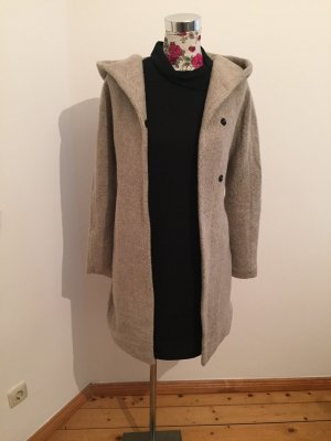 Bershka Hooded Coat silver-colored-light grey