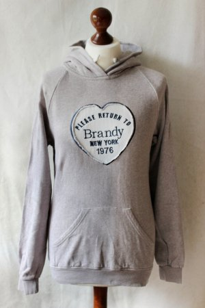 Hellgrauer Brandy Melville Pullover Hoodie Sweater One Size Blogger