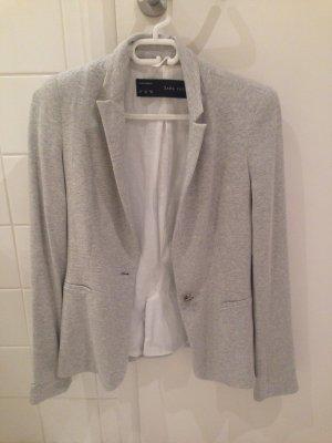 Zara Blazer en jersey gris clair