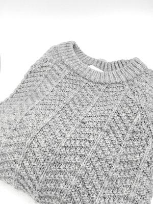 hellgrauer Strickpulli, kuscheliger Pullover von H&M