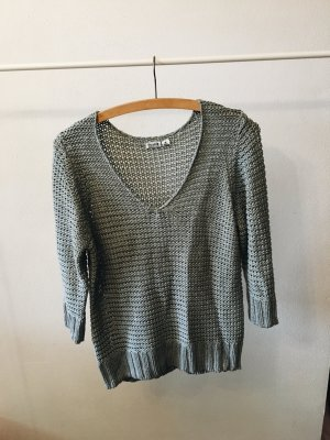 Blue Motion Knitted Sweater grey