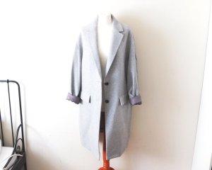 hellgrauer Uniqlo Mantel Gr. L 40 42 oversized Wolle Mantel klassisch