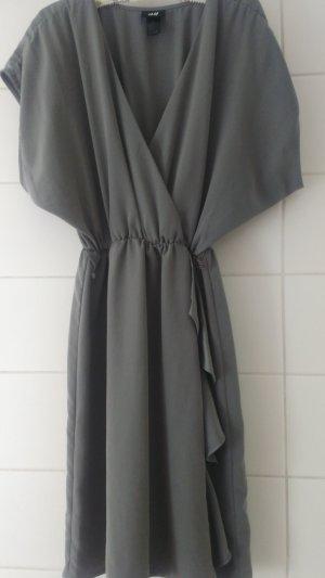 H&M Mini Dress grey-dark grey