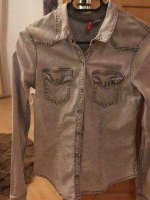 Hellgraues jeanshemd