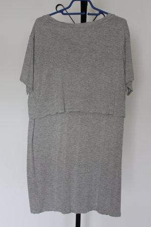 Hellgraues Sweatshirt-Kleid von H&M