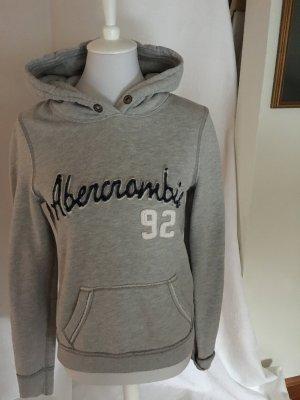 Abercrombie & Fitch Sudadera con capucha gris claro