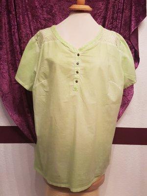 Hellgrüne dünne Bluse Shirt Top Kurzarm von Gina Benotti Gr.48/50 zartgrün neu