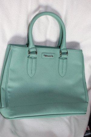 Hellgrüne Henkelhandtasche