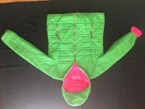 CMP Veste matelassée rose-vert fluo