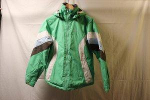 hellgrüne Ski und Snowboard Jacke