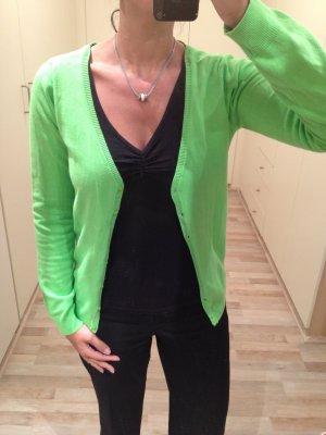 Hellgrüne Strickjacke S
