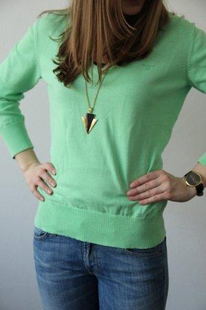 hellgrüner Basic-Strickpullover von Gant